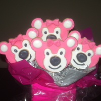 Stackable Bear Cookie Bouquet Not Perfect But Am Getting Better A Lot More Practice Needed Hahaha   stackable bear cookie bouquet, not perfect but am getting better, a lot more practice needed hahaha