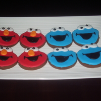 Elmo And Coolie Monster Cookies Elmo and Coolie Monster cookies