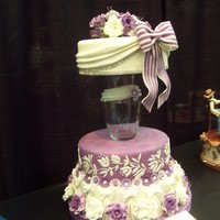 2011 Glamorous Wedding Cake Contest That cake was covered with foundand and the flowers were made in gum paste