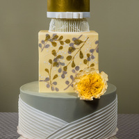 "Chic I'm happy to share this week's wedding cake with you, ""Chic"". This cake is full of detail and..."