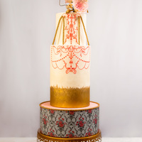 Illumination Hello everyone – I'm happy to share another cake with you today. Its design is a combination of a stenciled chandelier...
