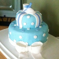 Baby Shower Cakes 1st cake I decorated for my Sister in law's baby shower