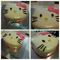 Hello Kitty Cake I Made For A Little Girls Birthday Party The Cake Is Covered In Fondant And All The Decorations Are Made Of Fondant Hello kitty cake I made for a little girl's birthday party. The cake is covered in fondant and all the decorations are made of fondant...