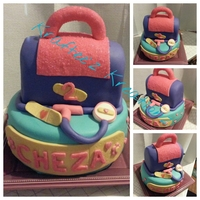 Doc Mcstuffins Themed Cake This is a Doc McStuffins Themed cake for my daughter's 2nd birthday. Everything is made of cake and covered in MMF. The band-aids and...