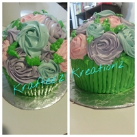 I Made These Cakes For Mothers Day I Made A Total Of 3 For All The Special Moms In My Life It Is All Buttercream And I Used A Giant Cupc I made these cakes for Mother's Day, I made a total of 3 for all the special moms in my life. It is all buttercream and I used a giant...