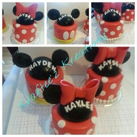 Mickey Amp Minnie Themed Cakes For 3 Siblings Who Were Born In The Same Week In Different Years Mickey & Minnie themed cakes for 3 siblings who were born in the same week in different years.