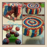 Flag Cake I Made For Home For 4Th Of July All Buttercream Icing And The Cake Layers Are Red Velvet For The Red And Vanilla Tinted Blue I Flag cake I made for home for 4th of July. All buttercream icing and the cake layers are red velvet for the red and vanilla tinted blue. I...