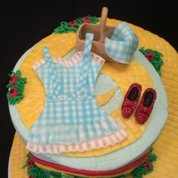 Wizard Of Oz Bachelorette Party Cake Hence The Gingham Lingerie Wizard of Oz Bachelorette party cake, hence the gingham lingerie :-)