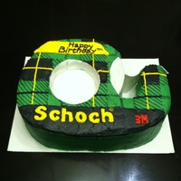 "The Recipients Last Name Was Schoch So Her Cake Was Schoch Tape All Buttercream With Fondant Tape The recipient's last name was ""Schoch"" so her cake was Schoch Tape! All buttercream with fondant ""tape""."