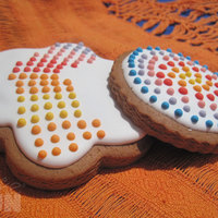 Some Sunny Colors Honey cookies decorated with royal Icing.