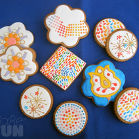 Firework Cookies And More This was fun!... Decorated cookies with Royal Icing for Inspiration Challenge 12: Firework Cookies.. I could not look just for the...