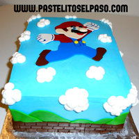 Mario Brothers Buttercream Cake