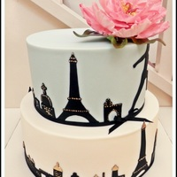 A Paris Themed Cake Made For A Beautiful Friends Birthday Celebrations A Paris themed cake made for a beautiful friends birthday celebrations.