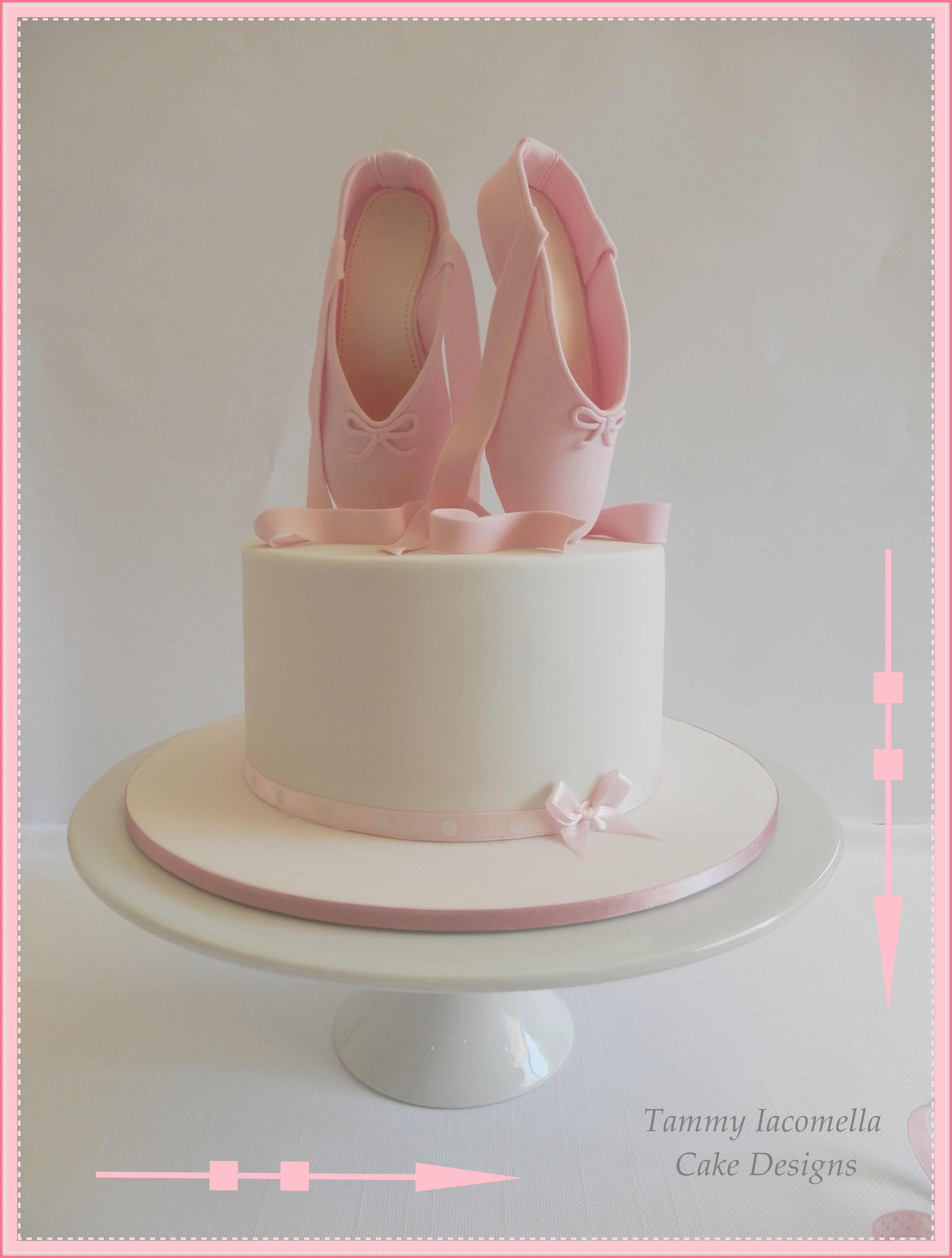 "7 Chocolate Cake With Pretty Fondant Ballet Slippers I Gave The Slippers About 4 5 Days Drying Time Before Standing Them Upright On The Ca... 7"" chocolate cake with pretty fondant ballet slippers. I gave the slippers about 4-5 days drying time before standing them upright on..."