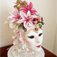 "This Was A Cake I Made As An Entry For Our Royal Show Contest In Perth Western Australia It Is An 8 Extended Tier With A Sugar Paste Mask This was a cake I made as an entry for our Royal Show Contest in Perth, Western Australia. It is an 8"" extended tier with a sugar..."