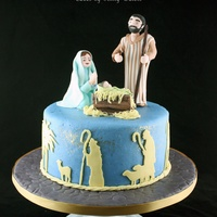 I Made This Nativity Cake For A Local Church Play In Which The Children Were Either Sheep Or Shepherds I Had Sheep Cupcakes Arranged Aroun... I made this Nativity cake for a local church play in which the children were either sheep or shepherds. I had sheep cupcakes arranged...