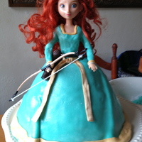 """brave"" Themed Cake  This is 1 of 2 ""Brave"" themed cakes I made for my daughter, and my first attempt ever at using fondant. I made the fondant from..."