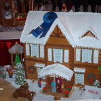 2005 Atlanta Festival Of Trees, Gingerbread House Competition, Benefiting Childrens Healthcare Of Atlanta 2'x4' Display, Auctioned for Childrens Healthcare of Atlanta