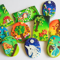 We Did These Enchanted Forest Theme Cookies Using Airbrush And Paper Quilling Technique We Tried To Capture Elements From The Inspiration We did these Enchanted Forest theme cookies, using airbrush and paper quilling technique. We tried to capture elements from the Inspiration...