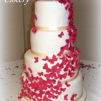 Butterfly Whirl Wedding Cake