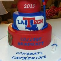 Louisiana Tech Graduation Cake Louisiana Tech graduation cake
