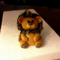 Gumpaste Lion Topper For Circus Cake Gumpaste lion topper for circus cake