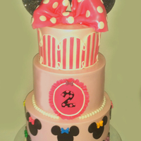 Minnies Bow Tique Cake Minnie's Bow-tique cake