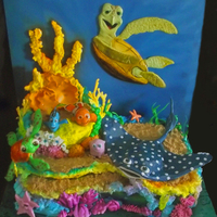 Finding Nemo Inspired Cake Finding Nemo inspired cake