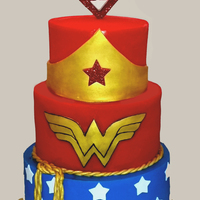Wonder Woman Cake With Custom Super K Topper Wonder woman cake with custom Super K topper