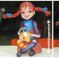 Pippi Longstocking Cake Topper Pippi longstocking - cake topper