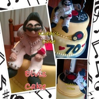 Elvis Themed 70Th Birthday Cake Elvis themed 70th birthday Cake