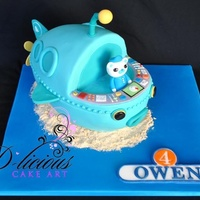 3D Octonauts Gup A Chocolate Mud Cake Complete With Hand Piped Name Plaque In The Octonauts Logo All Edible 3D Octonauts Gup-A Chocolate Mud Cake, complete with hand piped Name Plaque in the Octonauts Logo. All edible.