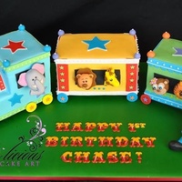 Circus Themed Train Cake All 100 Edible Figurines Hand Moulded And Writing Piped By Hand Circus Themed Train Cake! All 100% edible, figurines hand moulded and writing piped by hand :-)