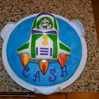 Buzz Lightyear Birthday Cake   Buzz is plastic, the rest is fondant