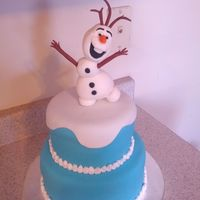 Frozen Theme Cake I Made For My Ganddaughter Frozen theme cake I made for my ganddaughter