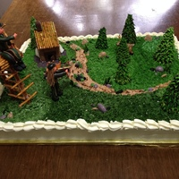 Cake With A Hunting Theme Overview of entire cake