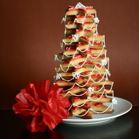 Gingerbread Christmas Tree Decorated With Royal Icing Stringwork Gingerbread Christmas Tree decorated with royal icing stringwork