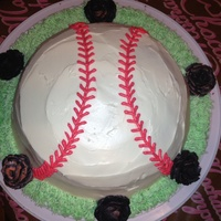 My Nephews Birthday Red Velvet Birthday Cake Black And Orange Roses For The San Francisco Giants My nephew's birthday red velvet birthday cake. Black and orange roses for the San Francisco Giants