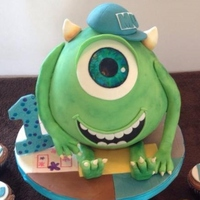 My Nephew's 1'st Birthday!! So my sister asked for Mike Wazowski for Ben's 1st Birthday... I think sometimes too much reading can cause unnecessary fear!! This...