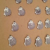 Woodland Animal Cupcake Toppers Hedgehog