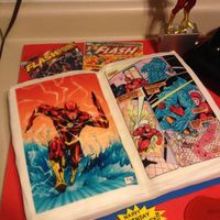 Flash Comic Book Playstation 3 Bottle Cake Flash comic book, playstation 3, bottle cake
