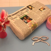Mothers Day News Paper Cake Newspaper Cake Mother's Day news paper cake, newspaper cake
