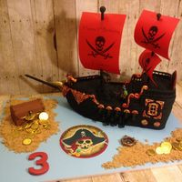 Pirate Ship I Made For My Grandson Tristan 3Rd Birthday Pirate ship I made for my grandson Tristan. 3rd birthday
