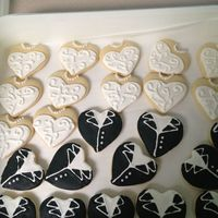 Cookies   Bride and groom cookies