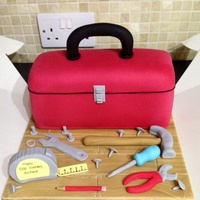 Toolbox Cake   All made from fondant