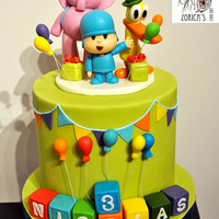 Pocoyo Cake My son's birthday cake from this weekend.