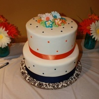 Orange And Blue Bridal Shower Cake Orange and Blue Bridal Shower Cake