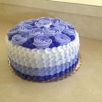 Purple Ombre Petal Birthday Cake purple ombre petal birthday cake