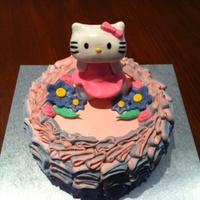 A Hello Kitty Cake I Made For My Daughters 5Th Birthday Its A 3 Layer Vanilla Butter Cake With A Strawberry And Cream Filling It Was My A Hello Kitty cake I made for my daughter's 5th birthday. It's a 3 layer vanilla butter cake with a strawberry and cream filling...