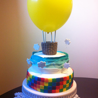 The Cake Is Covered In Mmf The Clouds Are Made Of Gum Paste The Basket Is Made Of Mmf I Attempted To Make A Gum Paste Hot Air Balloon Wh The cake is covered in mmf, the clouds are made of gum paste, the basket is made of mmf. I attempted to make a gum paste hot air balloon,...